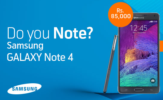 Samsung Galaxy Note 4 Pakistan
