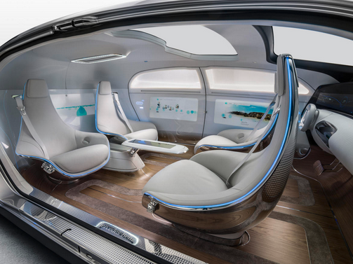 Interior look of Mercedes Benz Self Driving Car F015