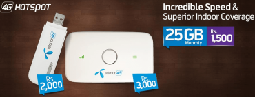 Telenor Introduced 4G MBB Packages Starting from Rs 1500